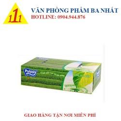 Hộp khăn giấy Pulppy hương trà xanh