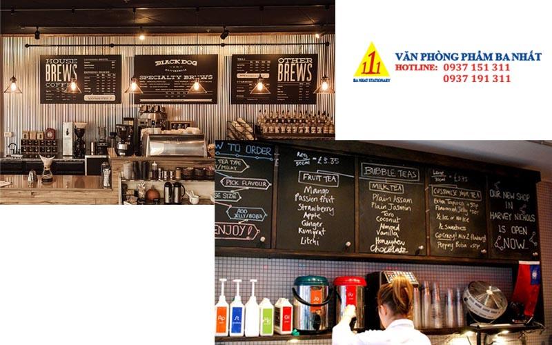 bảng menu treo tường, bảng đen menu, bảng menu gỗ treo tường