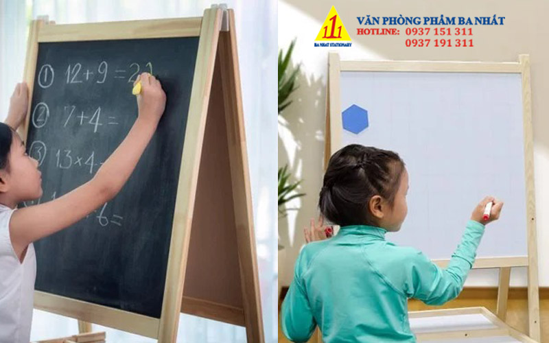 bảng vẽ trẻ em khung gỗ